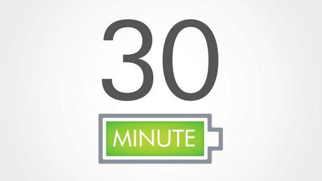 עד 30 דקות של שאיבה בעוצמה גבוהה